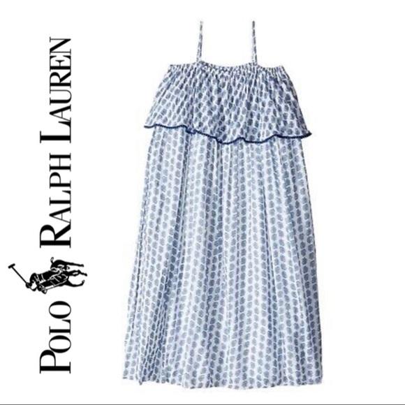 New Ralph Lauren Little Girls Long Sleeve Gauze Shirt Size 3T 6 5